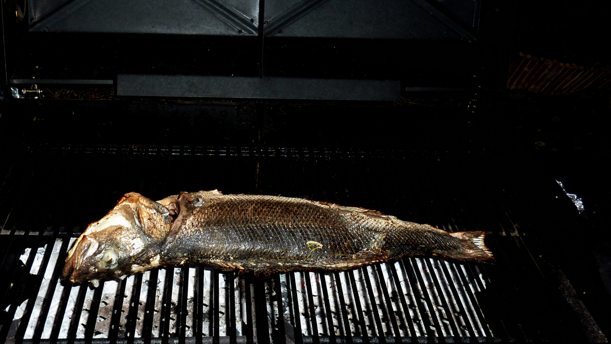 Grilled seabass, a delicious alternative to meat