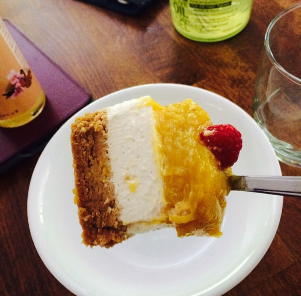 Mango Cheesecake and Picture by Trish Ladipo